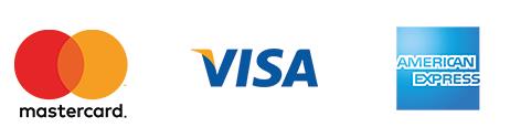 Cartões aceitos: Visa, Mastercard e American Express